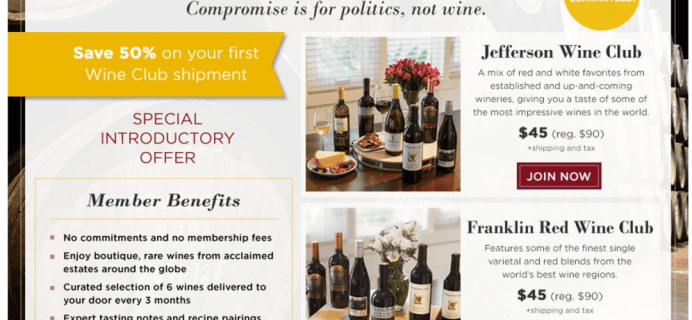 $30 Off Washington Post Wine Club Cyber Monday 2015 Deal!
