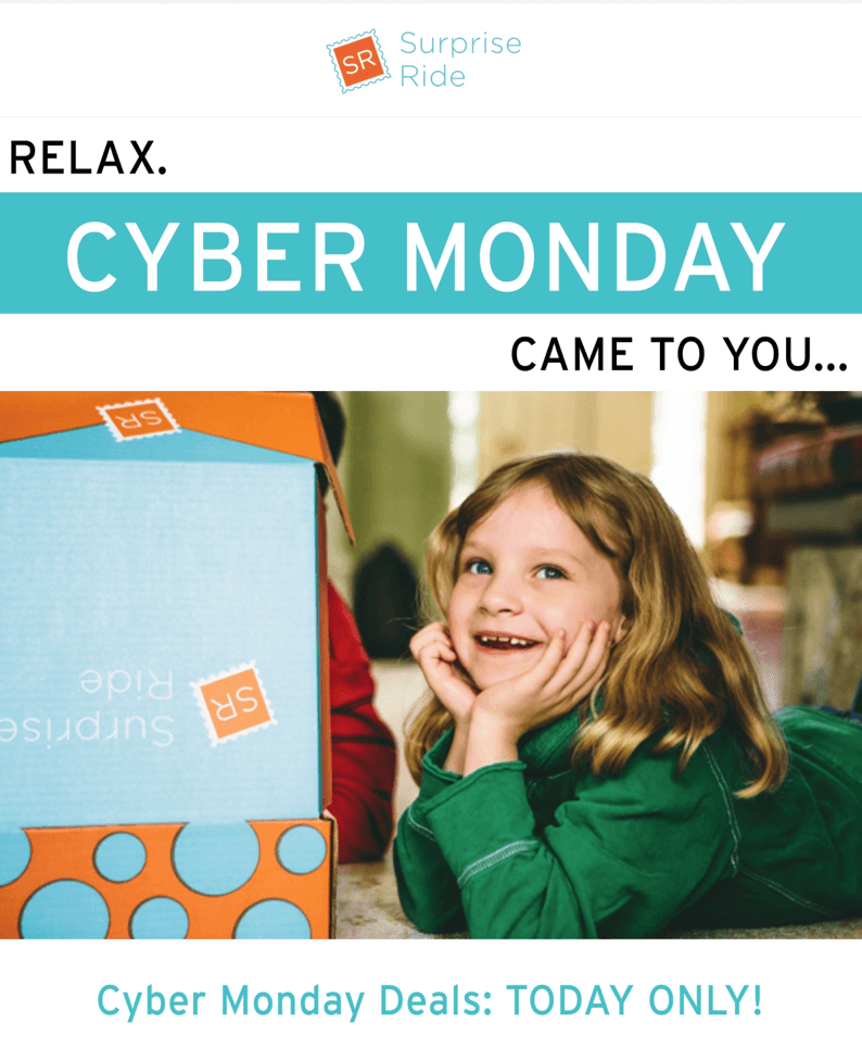 Surprise Ride Cyber Monday Deal: Save $5 Every Month or ...