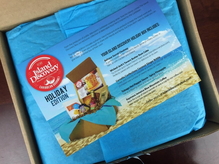 island discovery box holiday november 2015 unboxing