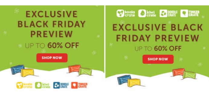 Kiwi Crate Black Friday & Cyber Monday Deals + 50% Shop Sale!