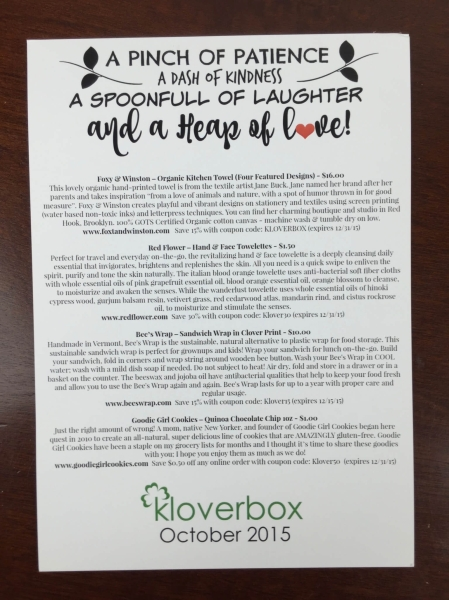kloverbox october 2015 IMG_0059