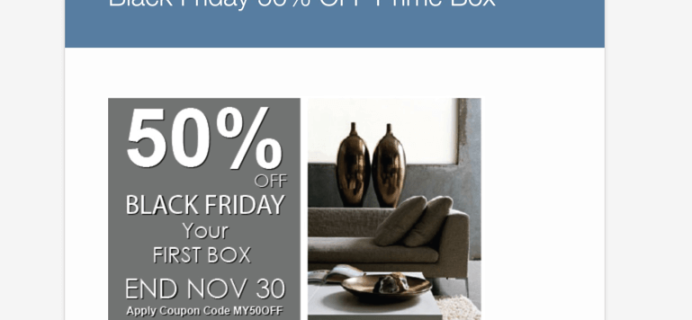 Linen Crate 50% Off First Box Black Friday Coupon Code!
