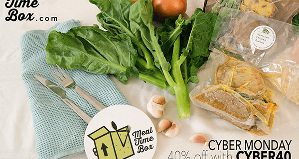 Meal Time Box Prepared Dinner Subscription Box Cyber Monday Deal: 40% Off ALL ORDERS!