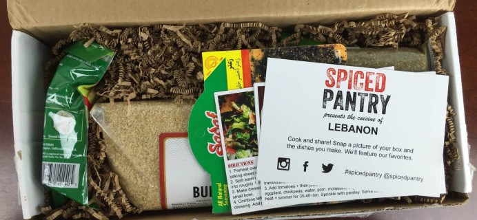 Spiced Pantry November 2015 Subscription Box Review & Black Friday Coupon Code – Lebanon