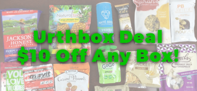 Urthbox Cyber Monday Deal: $10 Off Any Size Box!