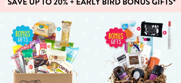 Vegan Cuts Cyber Monday Beauty + Snack Subscription Box Deals: 20% Off + Bonus Gifts!