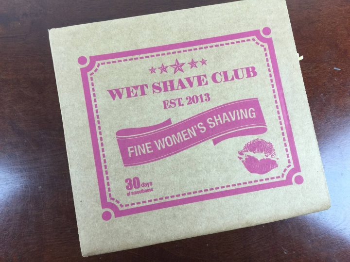 wet shave club women october 2015 box