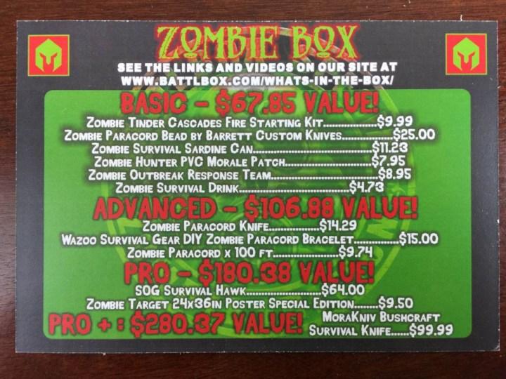 BattlBox October 2015 card
