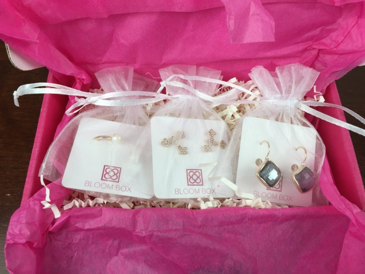 Bloom Box December 2015 earrings