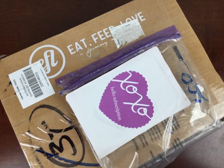 Eat Feed Love Taste Club December 2015 box