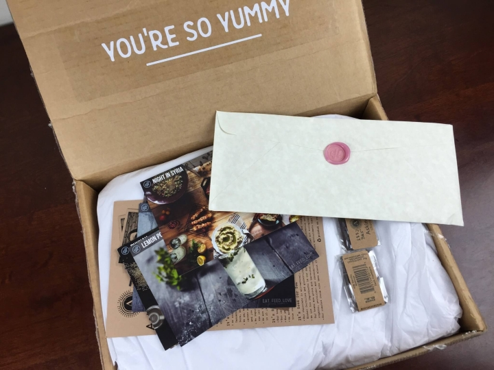 Eat Feed Love Taste Club December 2015 unboxing