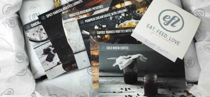 Eat Feed Love Taste Club Subscription Box Review & Coupon – November 2015