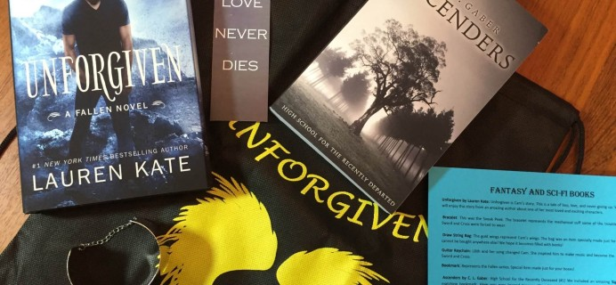 Fantasy and Sci-Fi Books Subscription Box Review  – December 2015