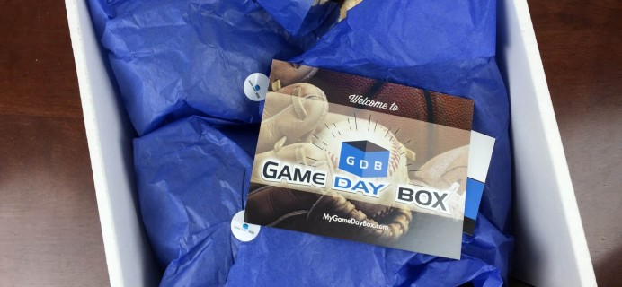 Game Day Box Sports Fan Subscription Box Review – December 2015