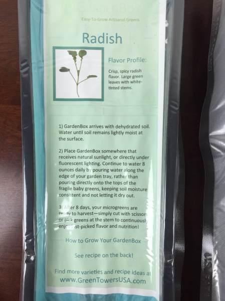 GardenBox December 2015 radish