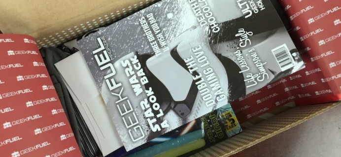Geek Fuel December 2015 Subscription Box Review & Coupon