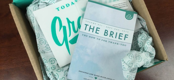 Gramr Quarterly Subscription Box Review – Winter 2015