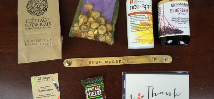 Honey & Sage Subscription Box Review – November 2015 Sage Woman Box