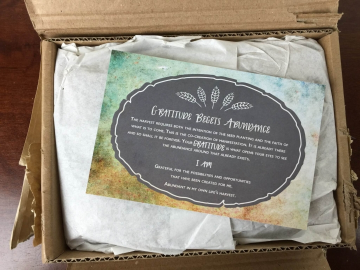 Honey & Sage November 2015 Sage Woman Box unboxing