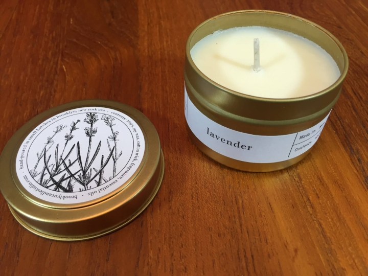 Little Luxe Box December 2015 candle
