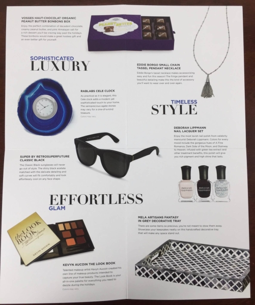 Neiman Marcus POPSUGAR Must Have 2015 Special Edition information card