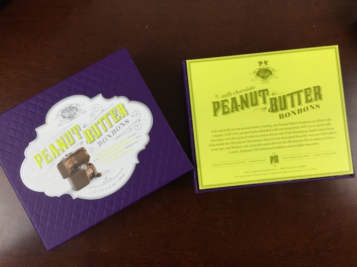 Neiman Marcus POPSUGAR Must Have 2015 Special Edition vosges peanut butter truffles box