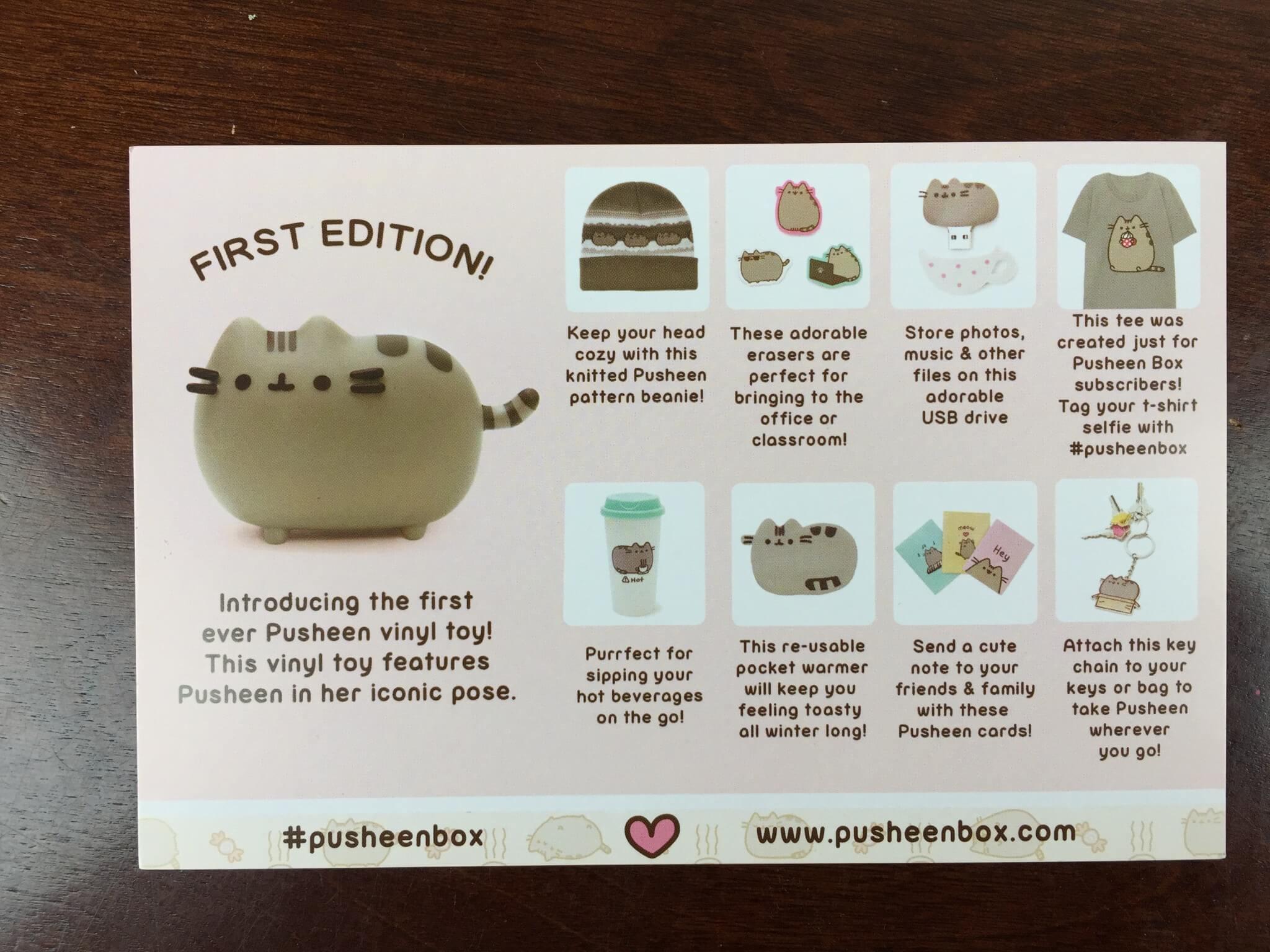 pusheen box winter 2015 subscription box review hello