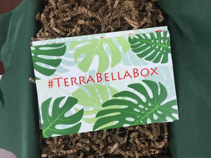 Terra Bella Box December 2015 unboxing