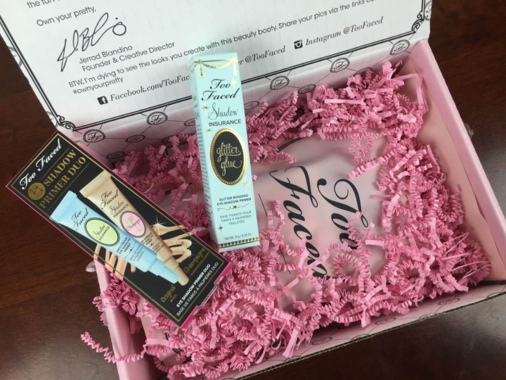 Too Faced Mystery Bag Review 2015 unboxing