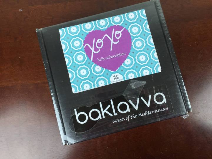 baklavva monthly box december 2015 box