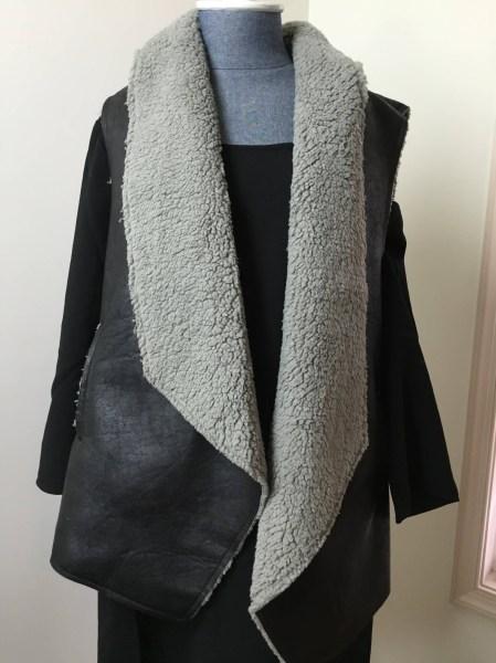 dia & co december 2015 BB Dakota - Faux Leather Shearling Vest