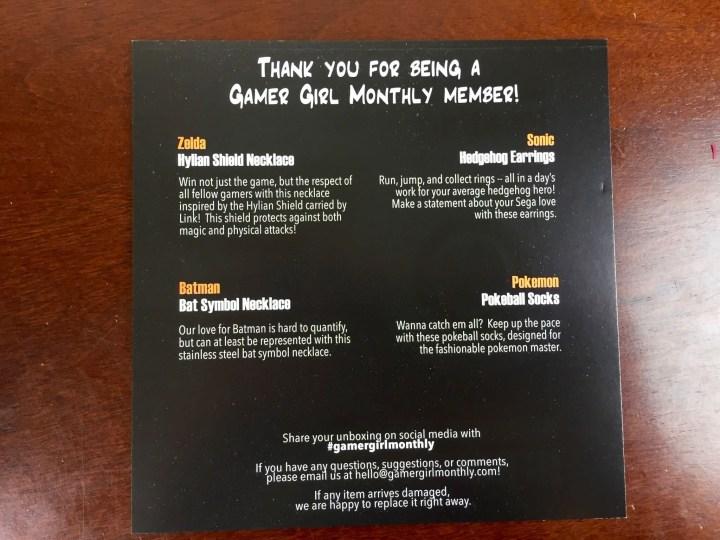 gamer girl monthly november 2015 card