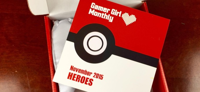 Gamer Girl Monthly November 2015 Subscription Box Review