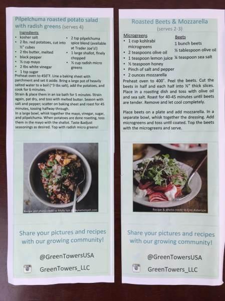gardenbox review microgreens recipes