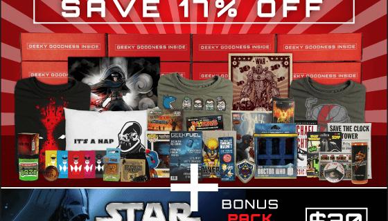 Geek Fuel Bonus Star Wars Pack Deal On 6+ Month Subscriptions!