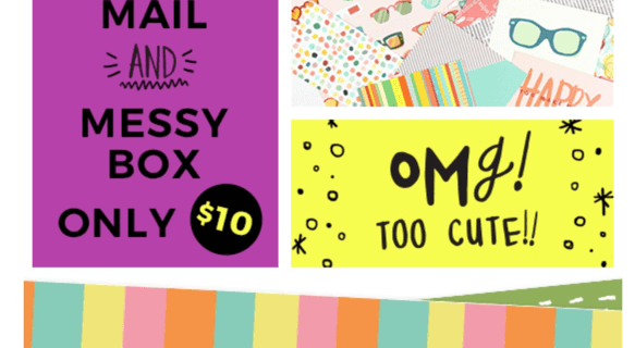 Happy Mail & Messy Box Sale – Past Boxes $10 + Picture Reviews of Past Boxes!