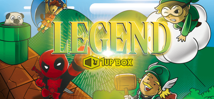 January 2016 1Up Box Spoilers: LEGEND + Coupon Code