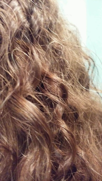S ahir with UR Curly Shampoo, Conditioner, and Curl Enhancer