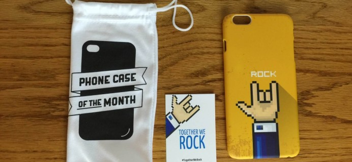 Phone Case of the Month Subscription Review + Half Off Coupon – January 2016