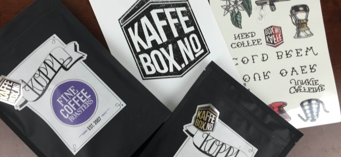 KaffeBox Subscription Box Review – January 2016