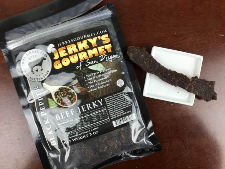 bojerky december 2015 Jerky's Gourmet of San Diego Beef Jerky - Black Pepper
