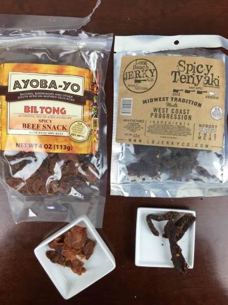 bojerky december 2015 ayoba-yo biltong Long Beach Jerky Co. Spicy Teriyaki Beef Jerky
