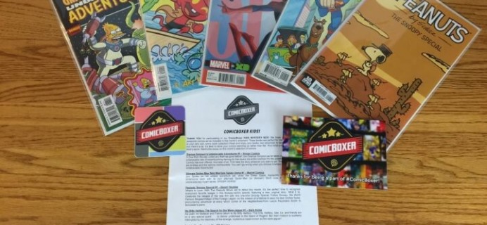Comic Boxer Kids – January 2016 Subscription Box Review & Coupon