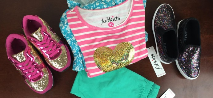 Fabkids January 2016 Subscription Review & Half Off Coupon