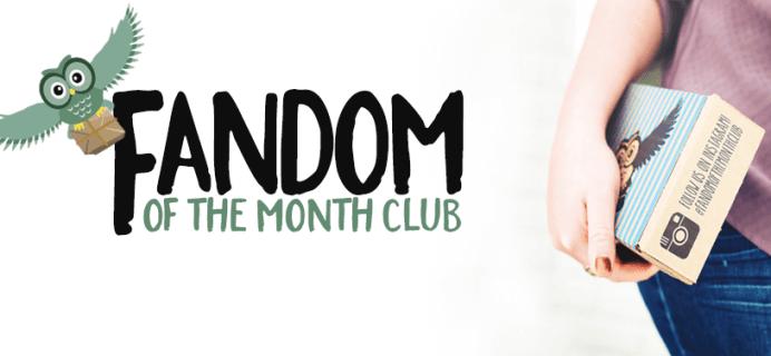 November + December 2016 Fandom of the Month Reveals + Coupon