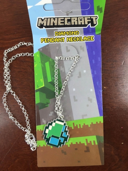 gamer girl monthly december 2015 minecraft diamond necklace