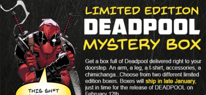 HeroBox Deadpool Limited Edition Mystery Gift Boxes Now Available!