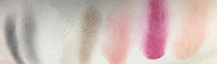 honest beauty palette swatches
