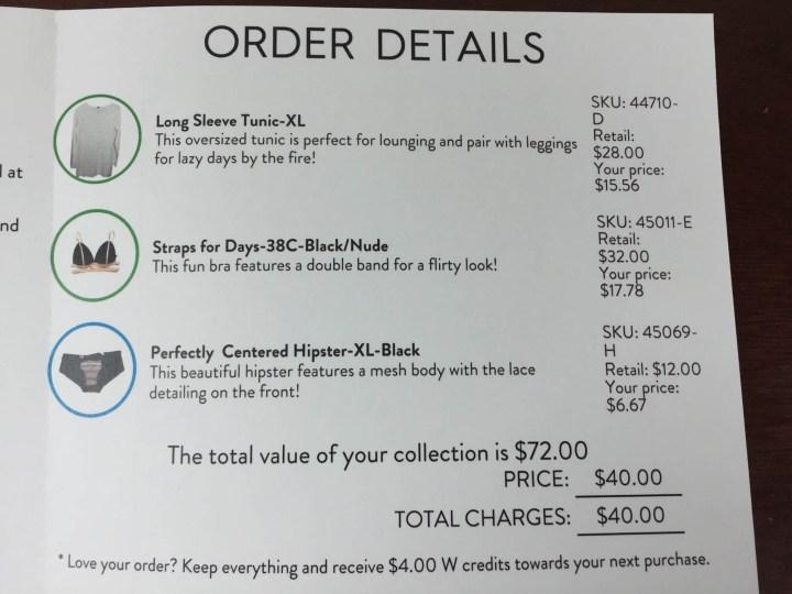 wantable intimates january 2016 receipt