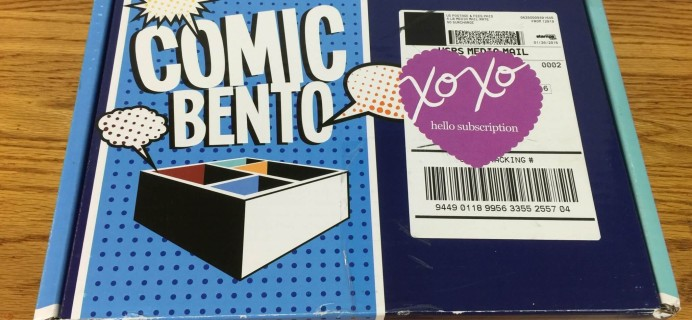 Comic Bento Subscription Box Review- February 2016